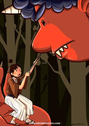 illustration ex3-obake-mireiamoreno